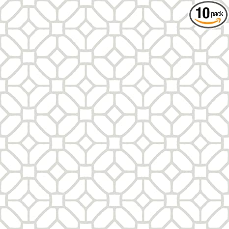 Floorpops Fp2946 Lattice Peel Stick Floor Tile White