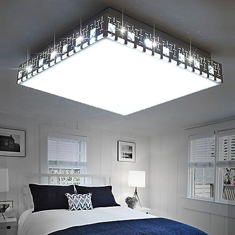 yxhflo LED Luz de techo dormitorio de cama Crystal Día de ...