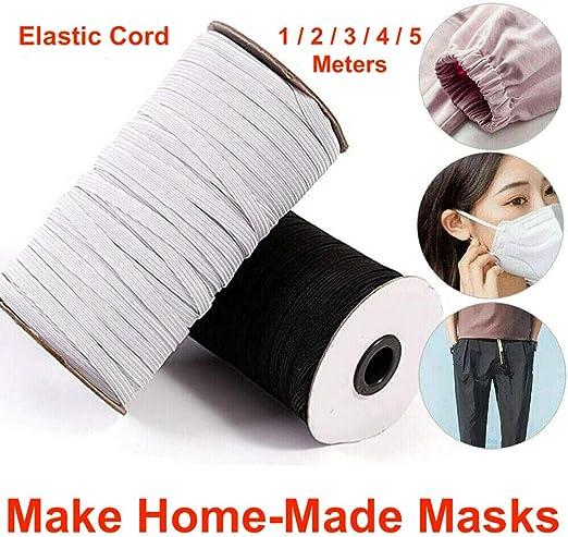 10 METRES FLAT WOVEN ELASTIC SEWING MAKING DIY FACE MASKS CLOTHES 25