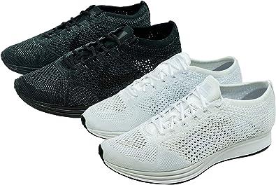Details about Nike Flyknit Racer Triple Black Anthracite [526628 009] SIZE MEN 5.5 WOMEN 7