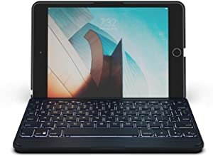 "ZAGG Folio - Bluetooth Tablet Keyboard - Backlit with 7 Colors - Made for Apple iPad Mini 5 (7.9"") - Charcoal"