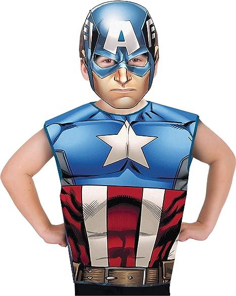 Marvel - Disfraz de Capitán América set de fiesta camiseta + ...