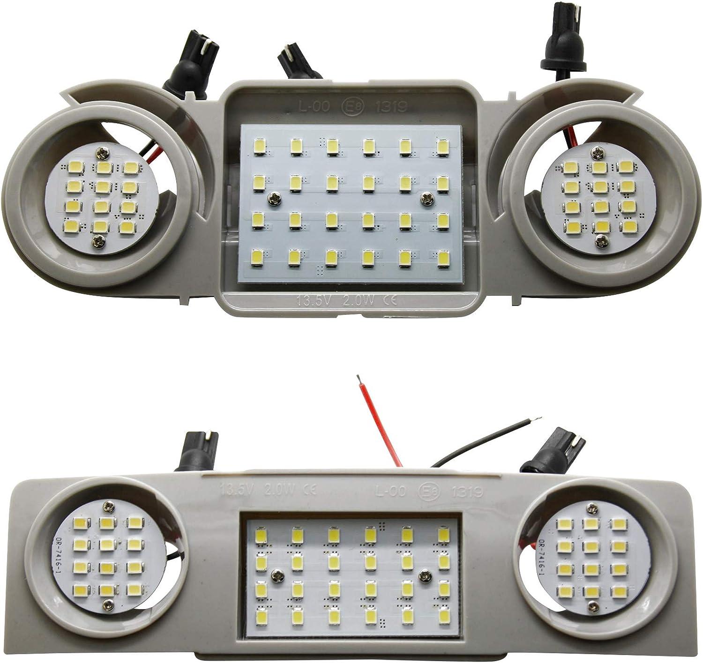 2x Led Innenraumbeleuchtung Modul Hauptbeleuchtung Lesebeleuchtung Vorn Hinten Auto