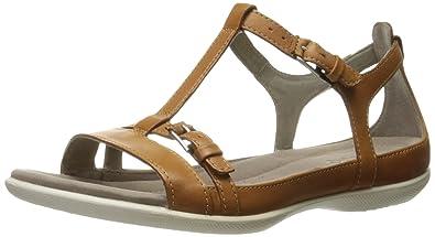 5d561903 Amazon.com | ECCO Women's Women's Flash T-Strap Sandal Flat | Flats