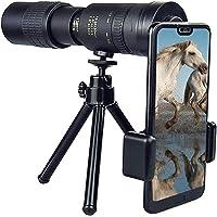 4K 10-300X40mm Super Telepoto Zoom Monocular, Telescopio Monocular para teléfono móvil, con adaptador para smartphone…
