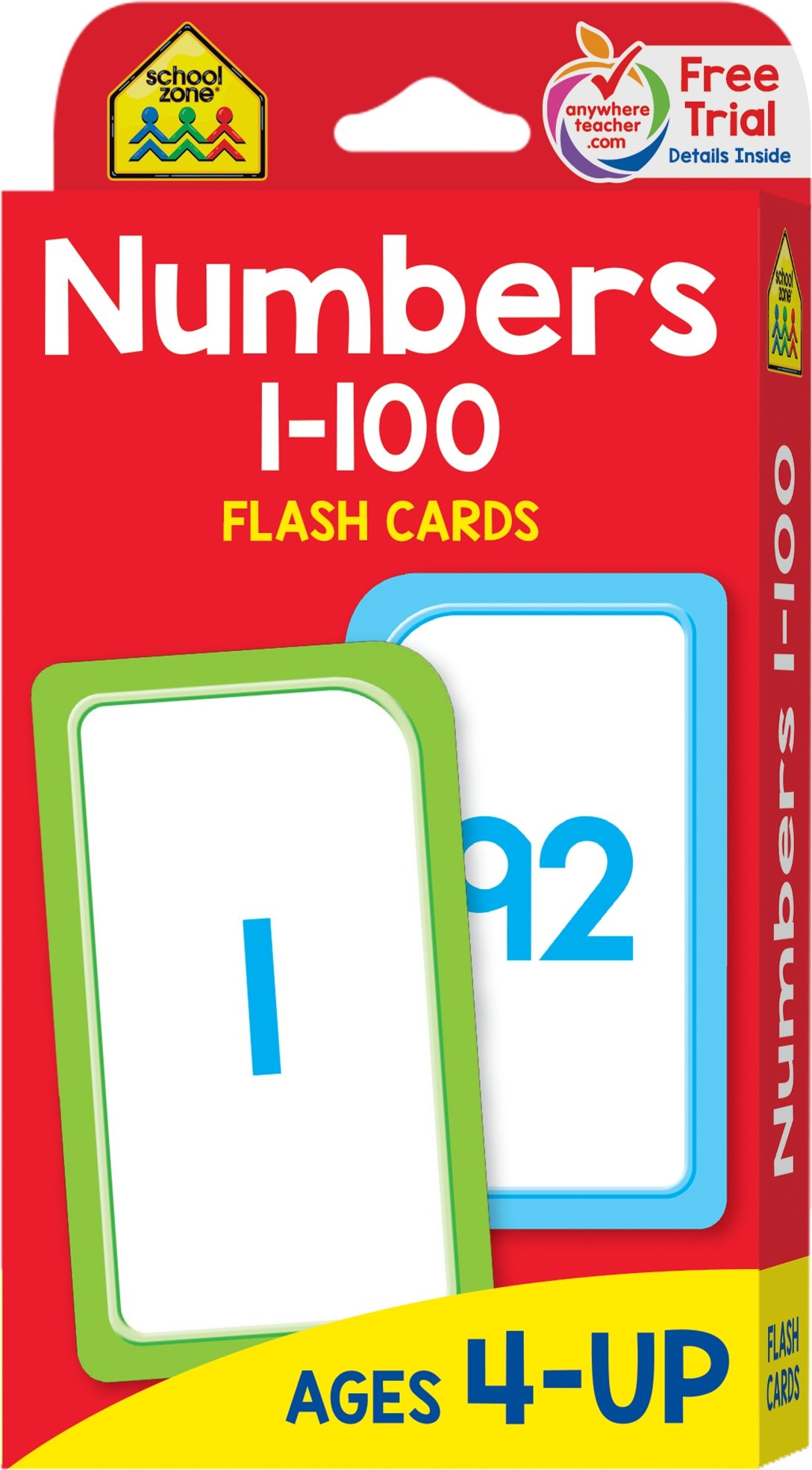 photograph relating to Printable Numbers 1 20 Flashcards referred to as College Zone - Quantities 1-100 Flash Playing cards - Ages 4 and Up