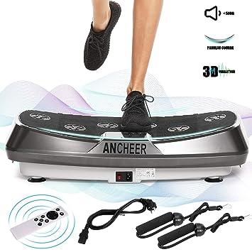 Ancheer Plataforma vibratoria Fitness, tecnología oscilacion 3D, 30 ...