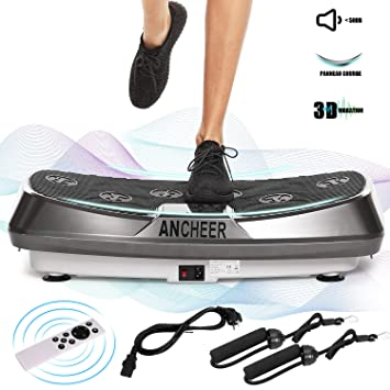 Ancheer Plataforma vibratoria Fitness, tecnología oscilacion ...