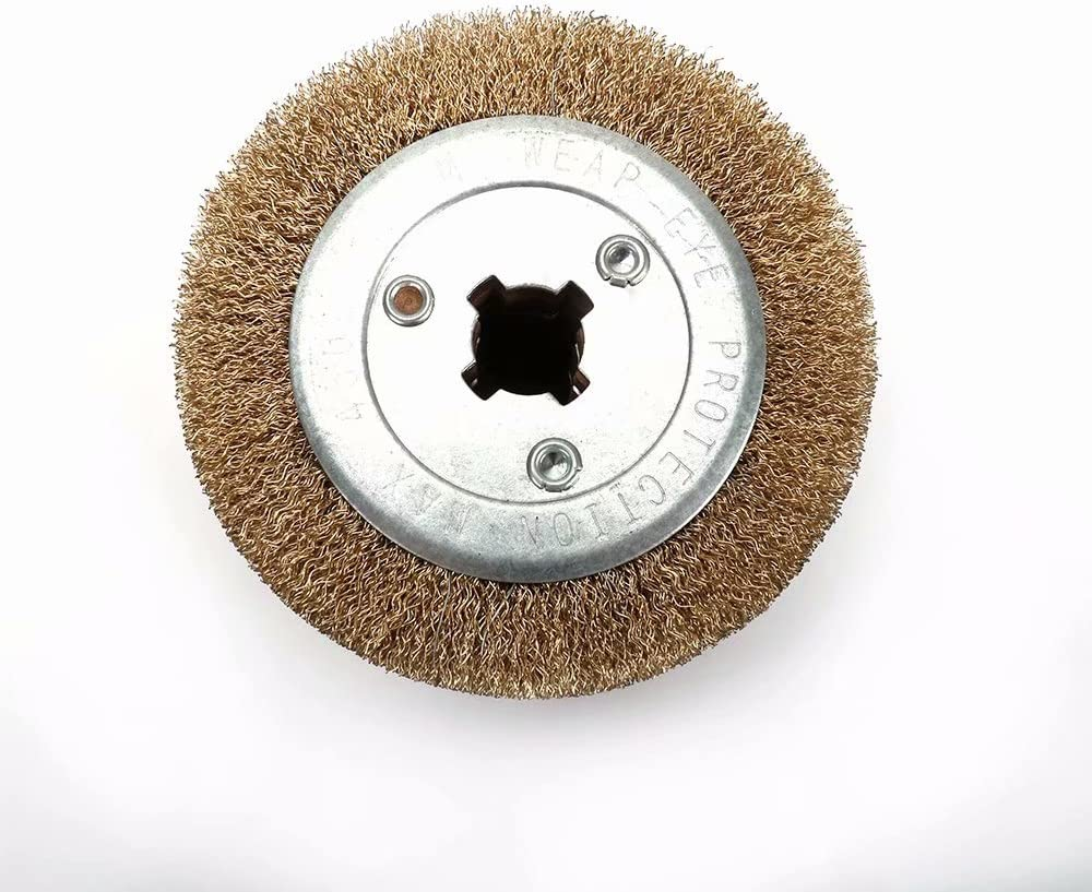 Aluminum 0.5mm Wire Drawing Flap Polishing Burnishing Wheel Grinding Abrasive Tool for The Surface Treatment of Stainless Steel Copper and other Metal Products 120x105mm