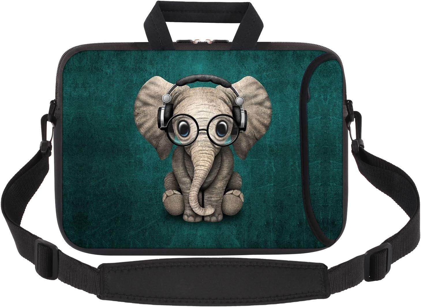 iCasso Laptop Sleeve 11.6-12.1 Inch Stylish Soft Neoprene Sleeve Case Cover Handbag for MacBook Air 11,MacBook Retina 12 Inch/iPad Pro/Ultrabook Netbook Tablet (Cute Elephant)