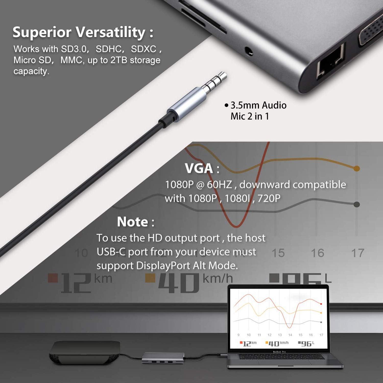 Mini 3//6 Port USB2.0 Splitter Adapter Hub For PC Laptop Notebook SD//TF Car O9A0