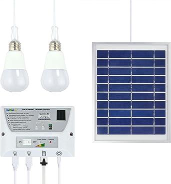 Starcrafter Sistema de iluminación móvil solar portátil Celular Inicio de Emergencias Pack de energía para interiores
