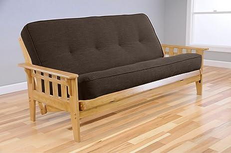 full drawer set tucson butternut futon   linen charcoal futon mattress amazon    full drawer set tucson butternut futon   linen      rh   amazon