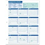 ComplyRight 2018 Attendance Calendar Card, White, Pack of 50