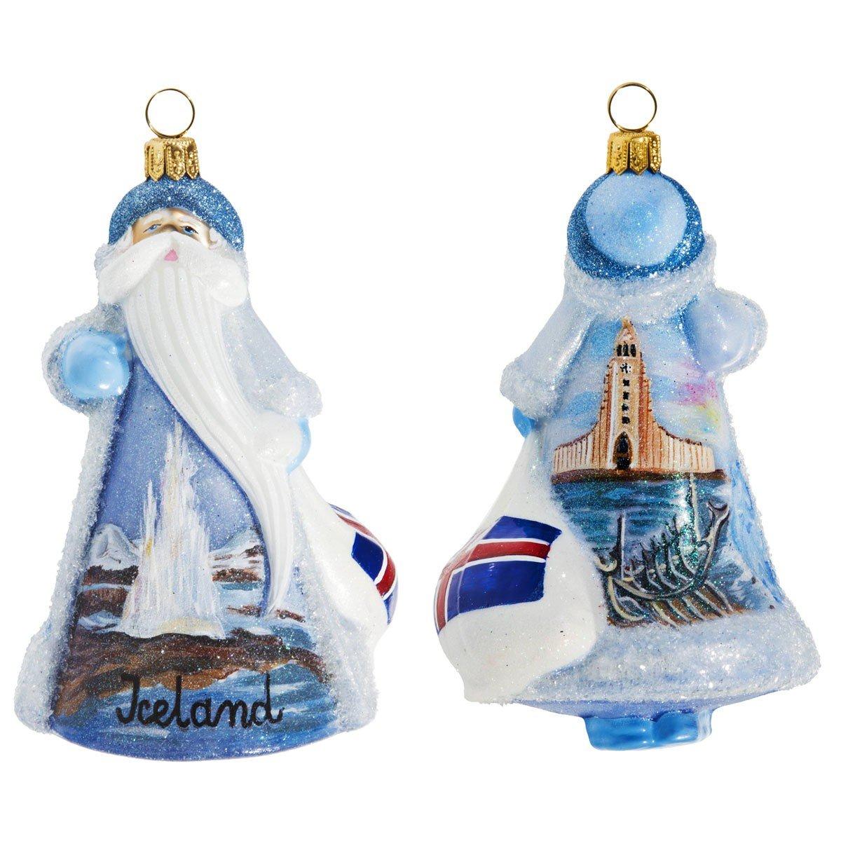 Amazon.com: Glitterazzi International Iceland Santa: Home & Kitchen