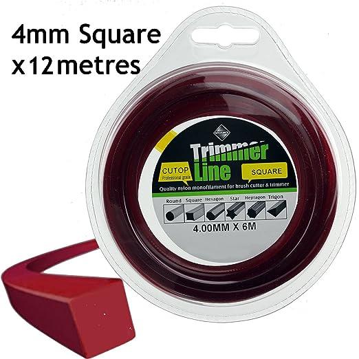 Spares2go cuadrado 4 mm de diámetro cortacésped Recortadora ...