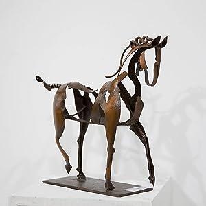 Horse Sculpture Modern Statue Rustic Metal Art Men Gift Horse Decor Cowboy Horse Artwork 100% Handicraft