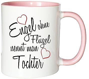 Mister Merchandise Kaffeebecher Tasse Engel Ohne Flügel Nennt Man Tochter Kind Geburt Schwanger Geschenk Geburtstag Wunschkind Teetasse Becher