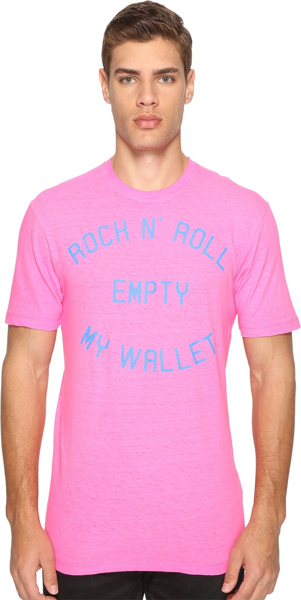 DSQUARED2  Men's Empty My Wallet T-Shirt Pink T-Shirt