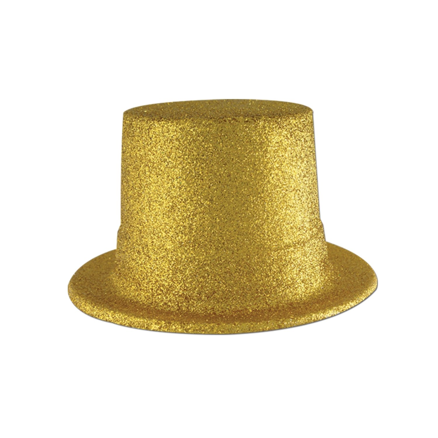 Beistle 60802-GD 24-Pack Glittered Top Hat, Gold by Beistle