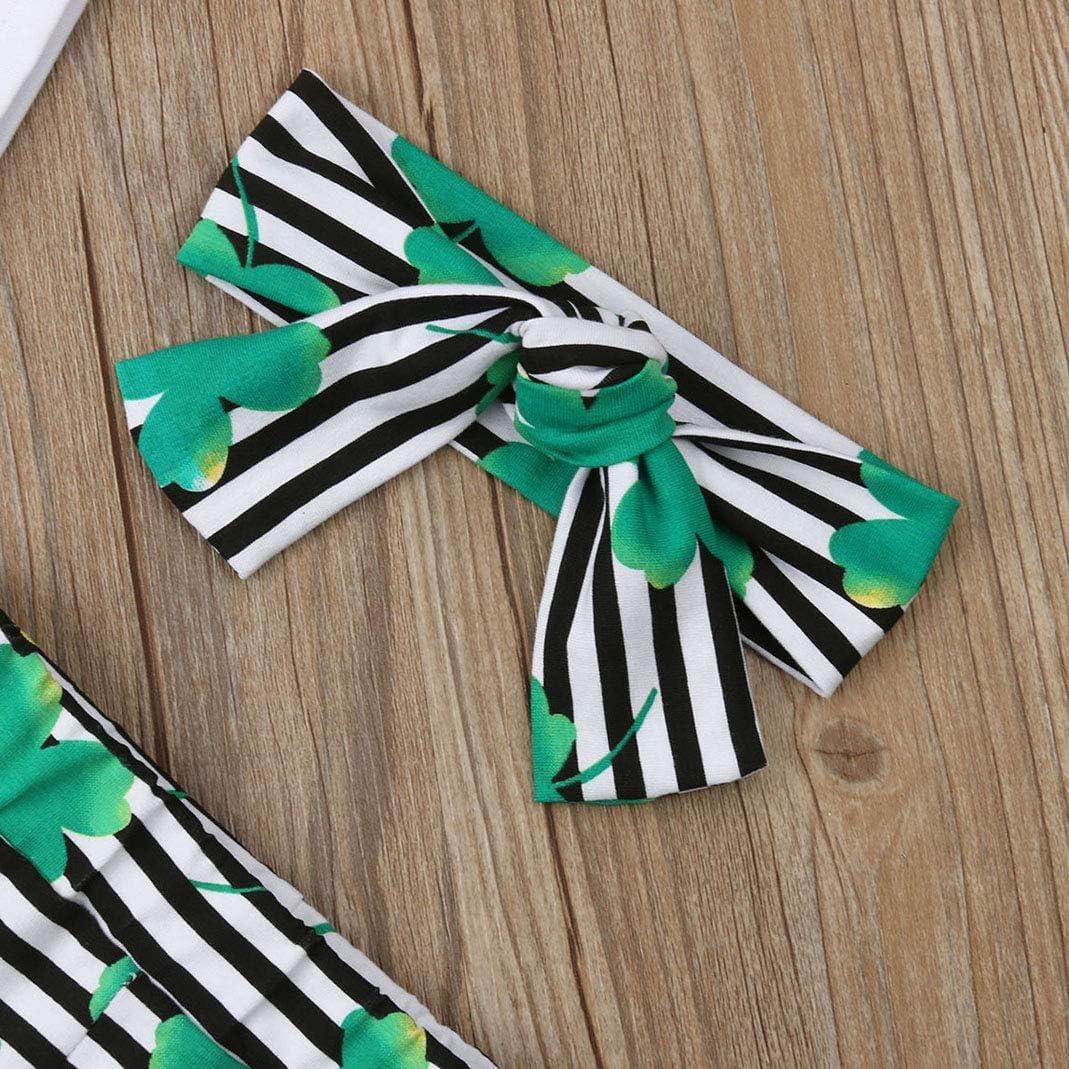 Patricks Day Strampler Tops Klee Hose Stirnband Hut Set Folge deinem Herzen 4 St/ück Baby Junge M/ädchen My 1st St