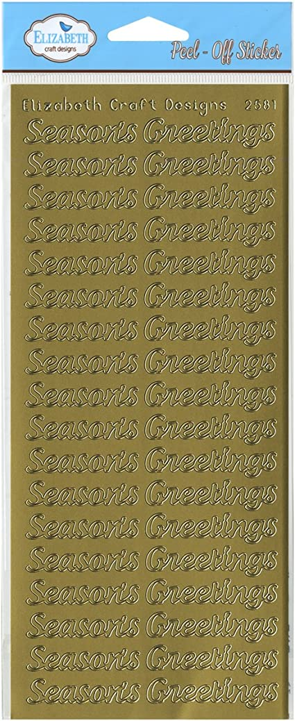 TWO PEEL OFF BORDER STICKERS CHRISTMAS CARD MAKING GOLD SILVER