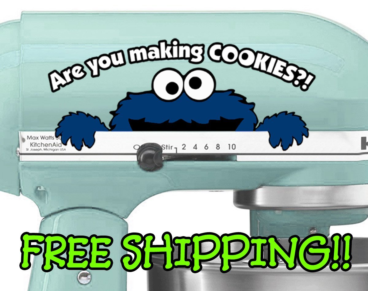 Amazon.com: Cookie Monster mixer decal for KitchenAid stand mixer ...