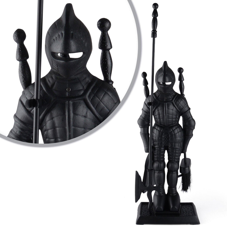 black knight fireplace tool set fireside cast iron poker u0026 brush