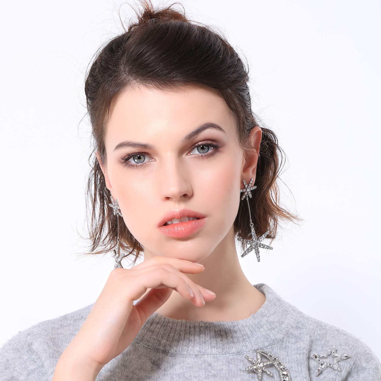 Miss Kiss Star Earrings Fashion Dangle Drop Earrings Wedding Chic Jewelry Gifts