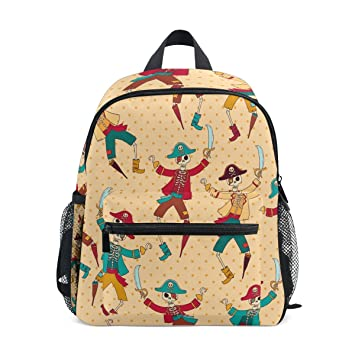 3f77e1c25e06 ZZKKO Marine Pirate Kids Backpack School Book Bag for Toddler Boys Girls