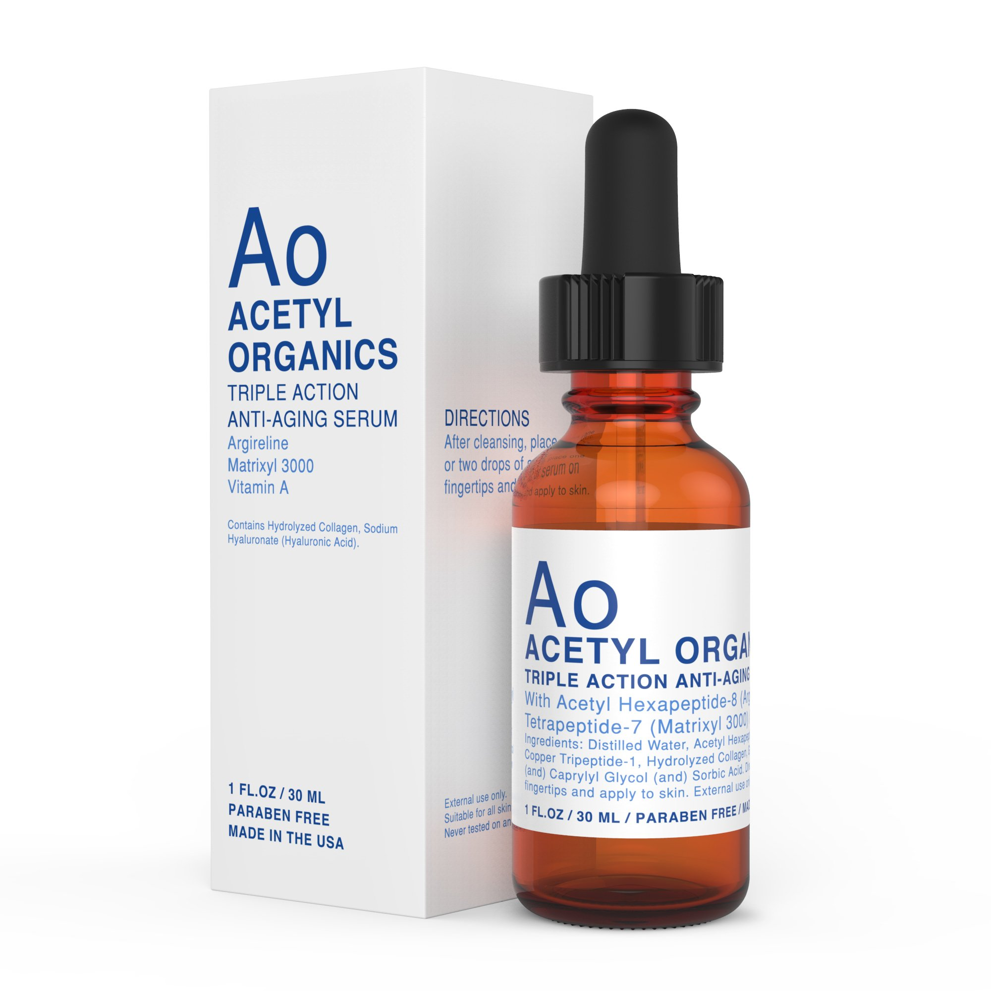 PREMIUM Anti-aging Serum with Argireline (20%), Matrixyl 3000 (20%), Retinyl Acetate (Vitamin A). Best Argireline Serum / Cream For Eyes, Wrinkles. Hyaluronic Acid. 100% Risk Free Offer.