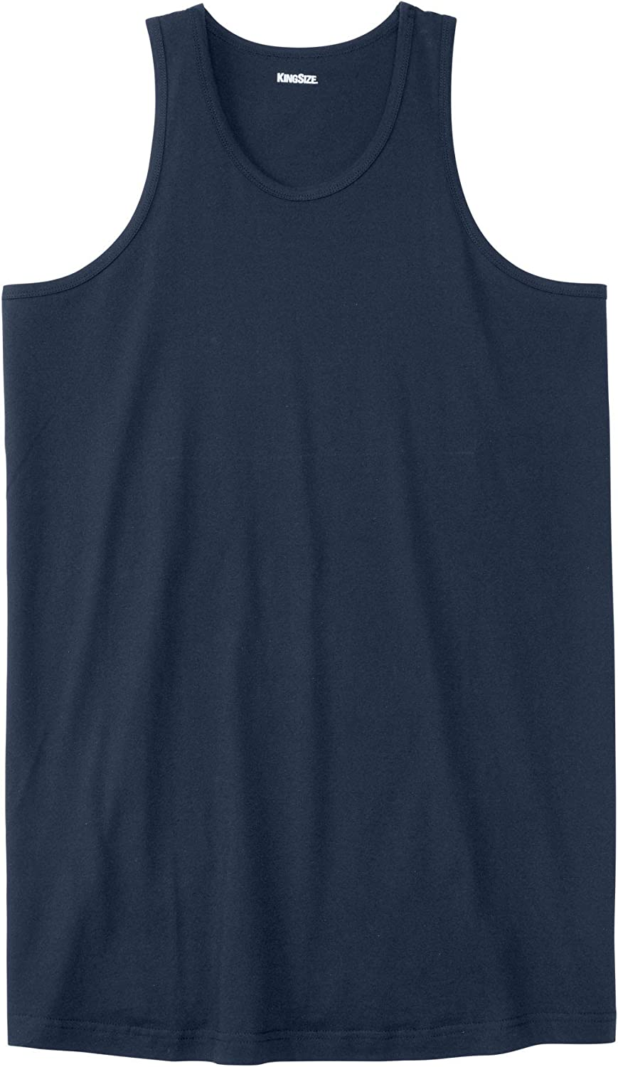 5XL KingSize Mens Big /& Tall Longer-Length Shrink-Less Lightweight Tank Navy Big