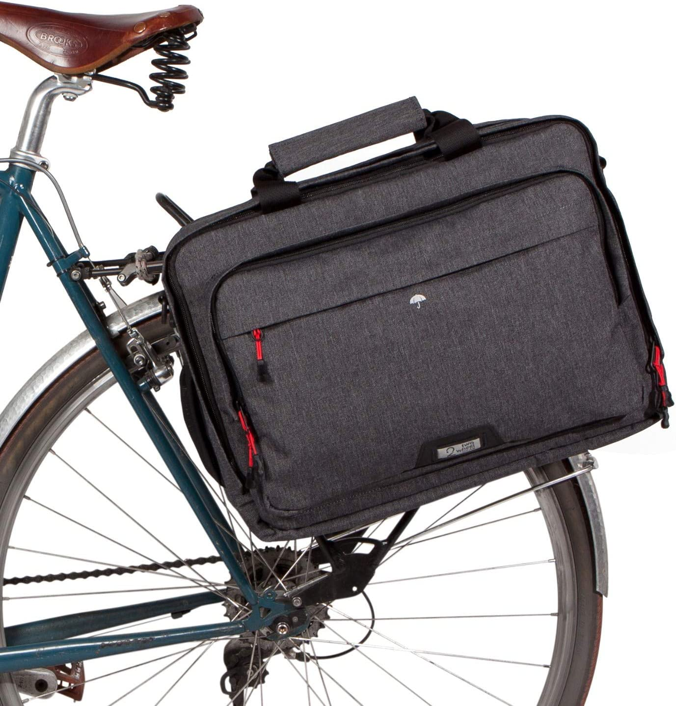 Two Wheel Gear Pannier Laptop Messenger Bike Bag - Waterproof Coated 20L