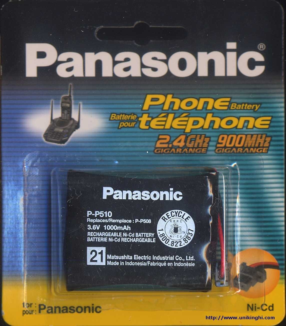Panasonic P-P510A Replacement Rechargeable Battery