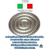 Spargifiamma x Padella Doppia Cottura Diametro cm 20 per la distribuzione Uniforme Del Calore e Stabilità sul Fornello