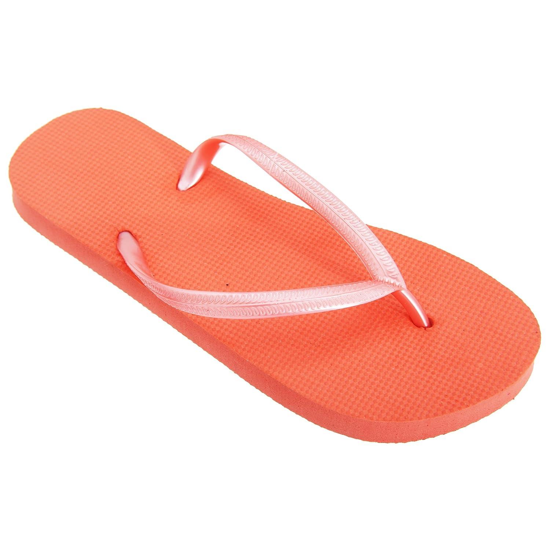 FLOSO® Damen Textur Flip Flops (38-39 EU) (Limette) ZxP2S