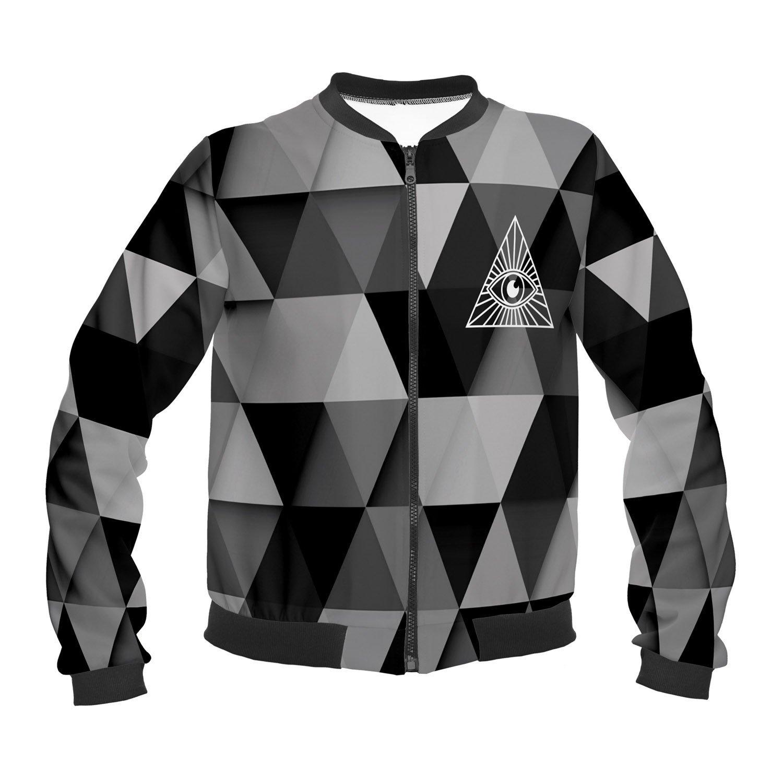 Funny Jackets Company© Impreso Chaqueta 3D Imprimir/Motivo/Diseño One Size Unisex Primavera Verano 2017 (EYE TRIANGLE 36065): Amazon.es: Ropa y accesorios