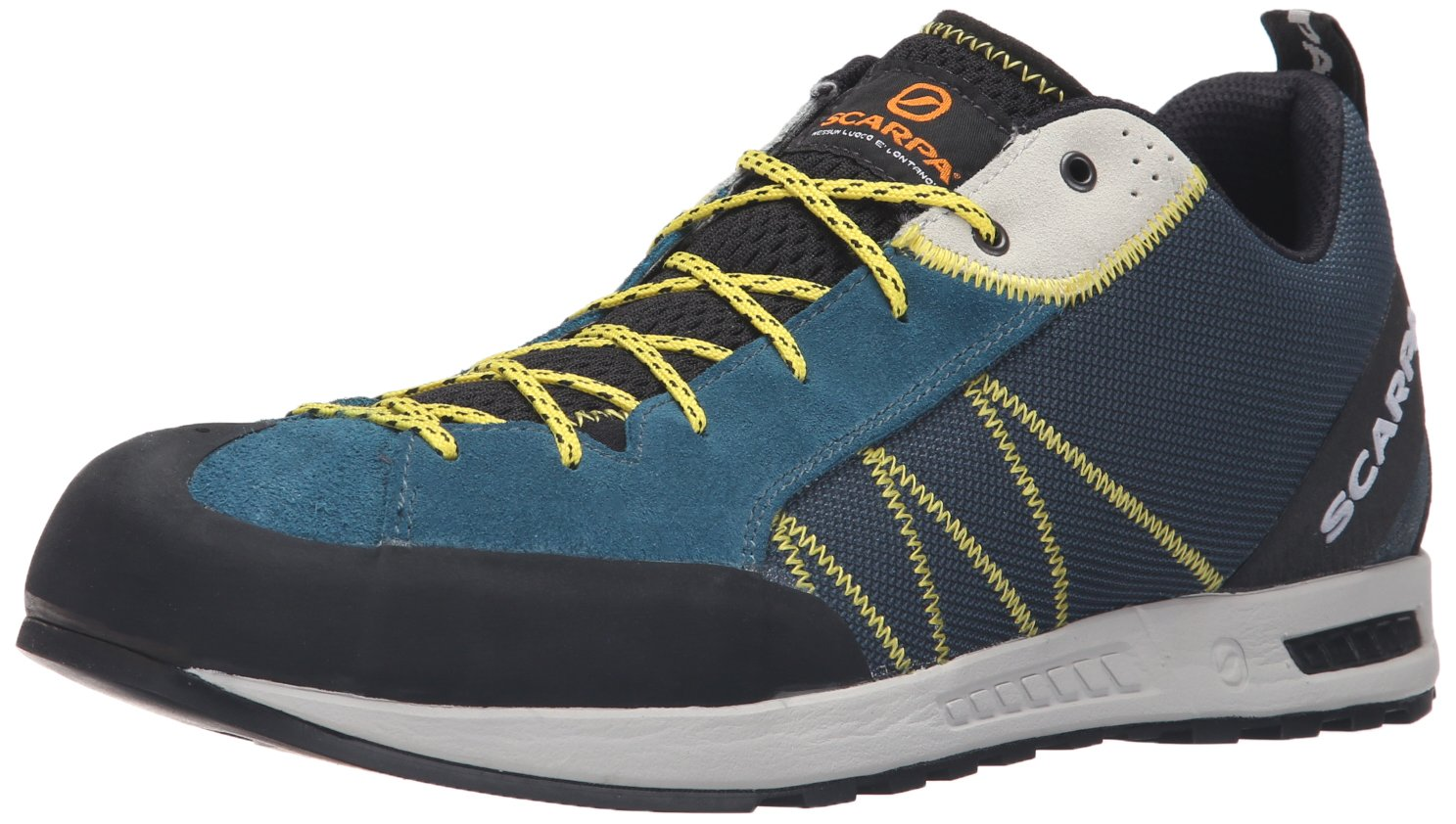 SCARPA Men's Gecko Lite Approach Shoe, Lake Blue/Yellow, 44.5 EU/11 M US