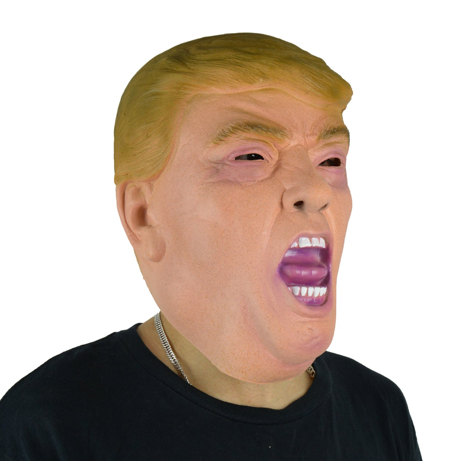 larpgears Donald Trump TV Presenter Billionaire Tycoon Cara Máscara de látex para fiesta: Amazon.es: Hogar