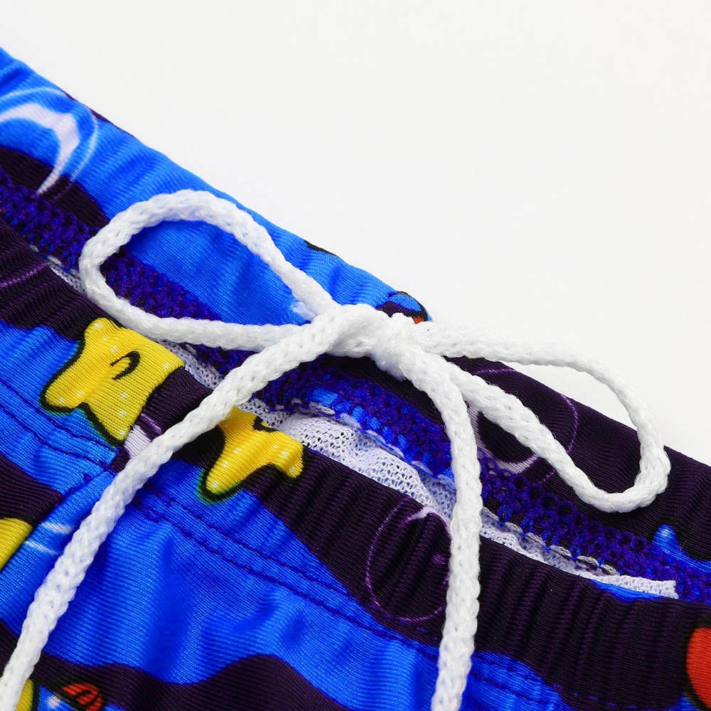 ❤️ Mealeaf ❤️ KidChildren Boys Cartoon Print Stretch Beach Swimsuit Swimwear Pants Shorts(24M-8T) (Blue, 4T) by ❤️ Mealeaf ❤️ _ Baby Swimwear (Image #3)