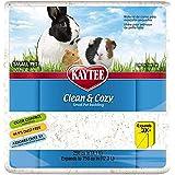 Kaytee 894629 Clean & Cozy Streu för små husdjur/gnagare/hamster, 99,9% dammfri, luktkontroll – 12,3 liter, vit