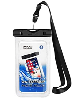 buy popular 53a24 3c3d3 Mpow Universal Waterproof Case, Waterproof Phone Pouch Dirtproof Snowproof  Dry Bag for iPhone Xs/XS Max/XR/X/8/8 Plus/7/7 Plus/6, Galaxy S10/S9/S8 ...