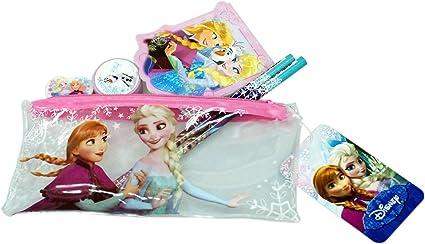 Disney® Frozen Anna Elsa Olaf Infantil Estuche de Goma Sacapuntas Lápices bloc de notas escuela estacionaria: Amazon.es: Oficina y papelería
