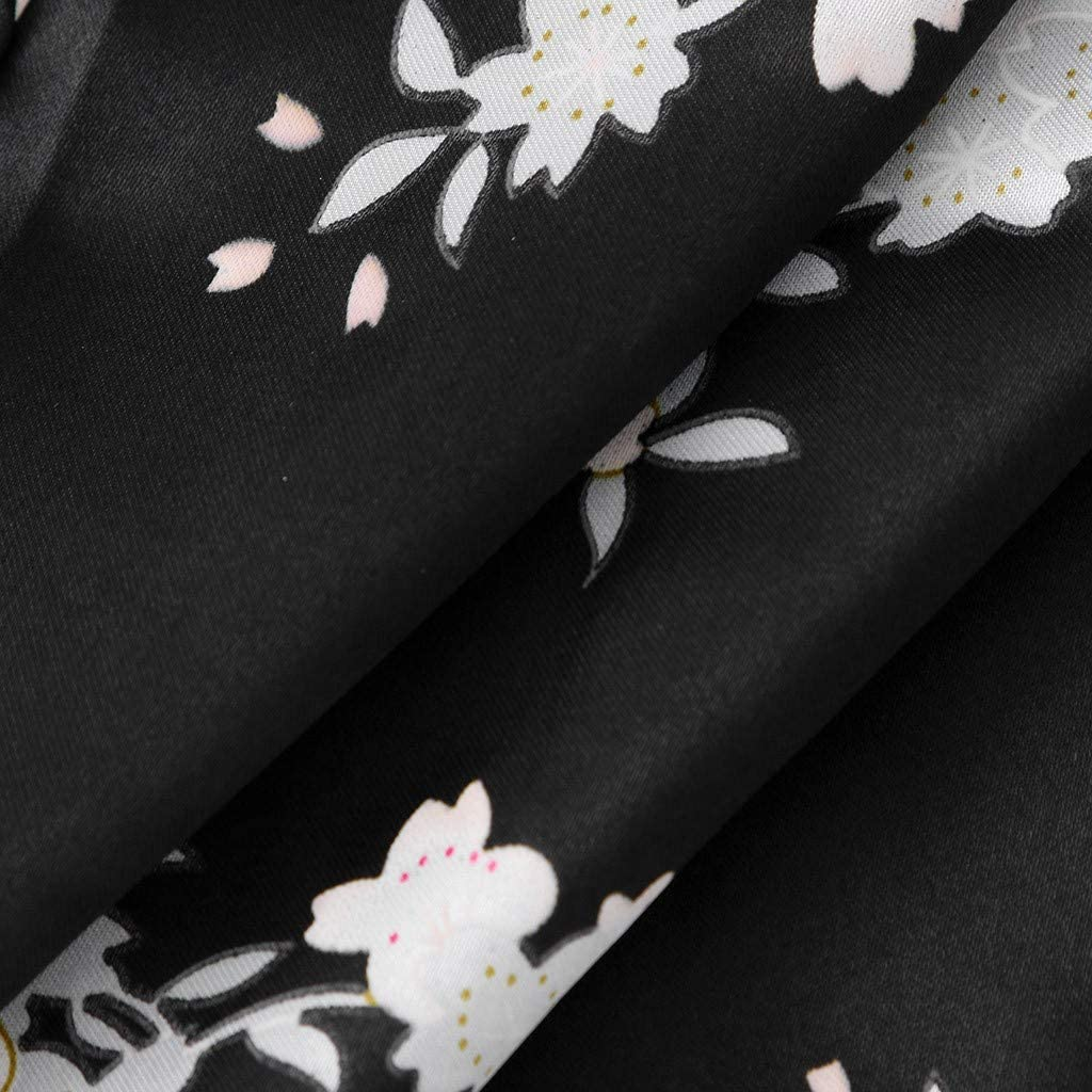 HEETEY/Toddler Baby Girls Solid Silk Satin Kimono Robes Bathrobe Dressing Gown Bathrobe for Kids Long Sleepwear Nightwear Pajamas Gown Tops
