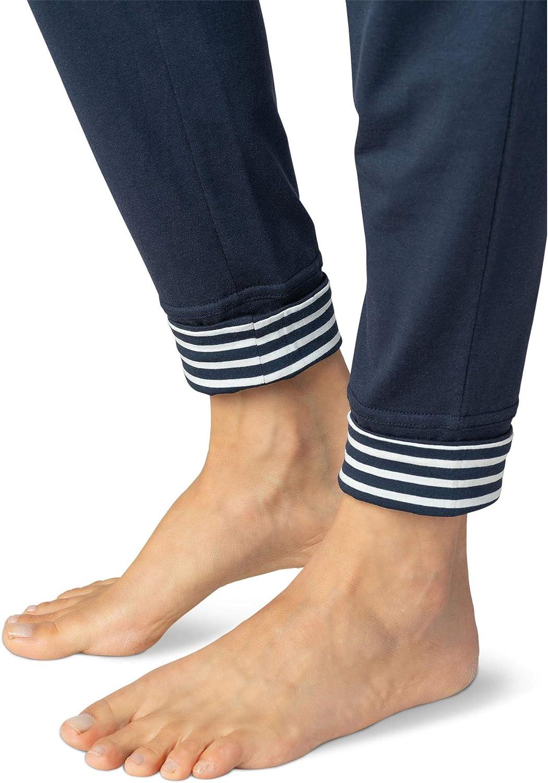 Mey Women 16958-408 Womens Demi Night Blue Cotton Loungewear Pant