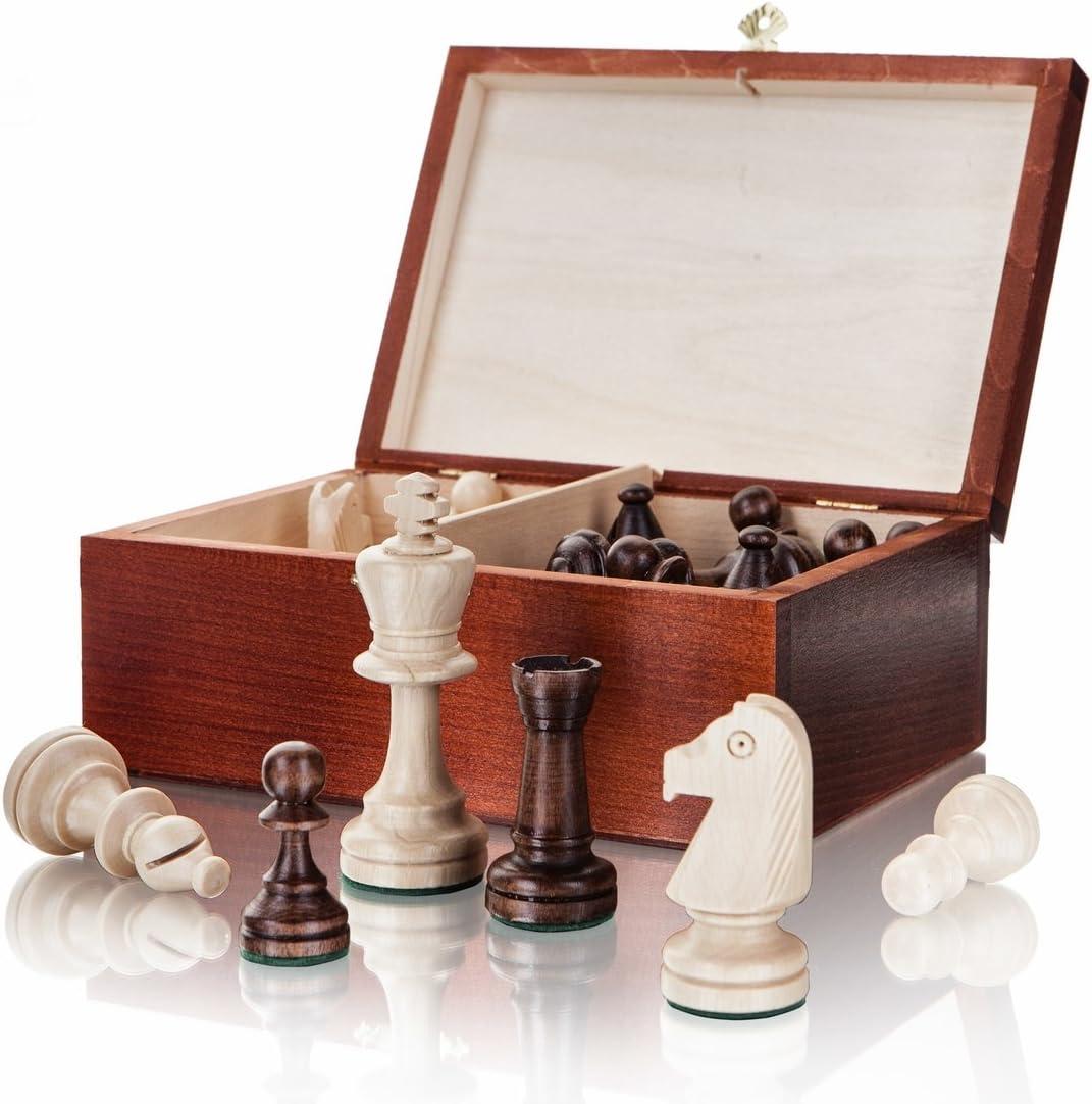 Caja de madera y piezas en Ajedrez Staunton Nº 5 torneo: Amazon.es: Juguetes y juegos