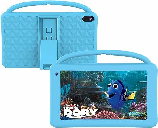 Tablet per Bambini Display IPS HD 7 Pollici Quad Core Android 10.0 Tablet PC per Bambini Doppia Fotocamera Certificata GMS 2 GB RAM 32 GBROM WiFi con Custodia Silicone Prova di Bambino Educativi (blu)