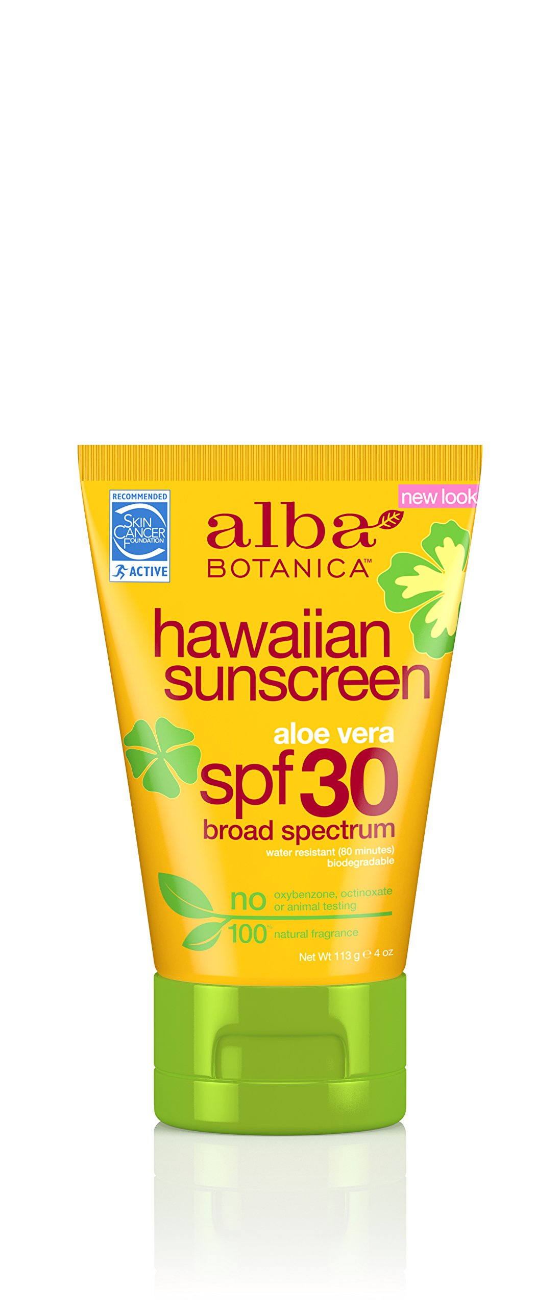 Alba Botanica Hawaiian, Aloe Vera Sunscreen SPF 30, 4 Ounce