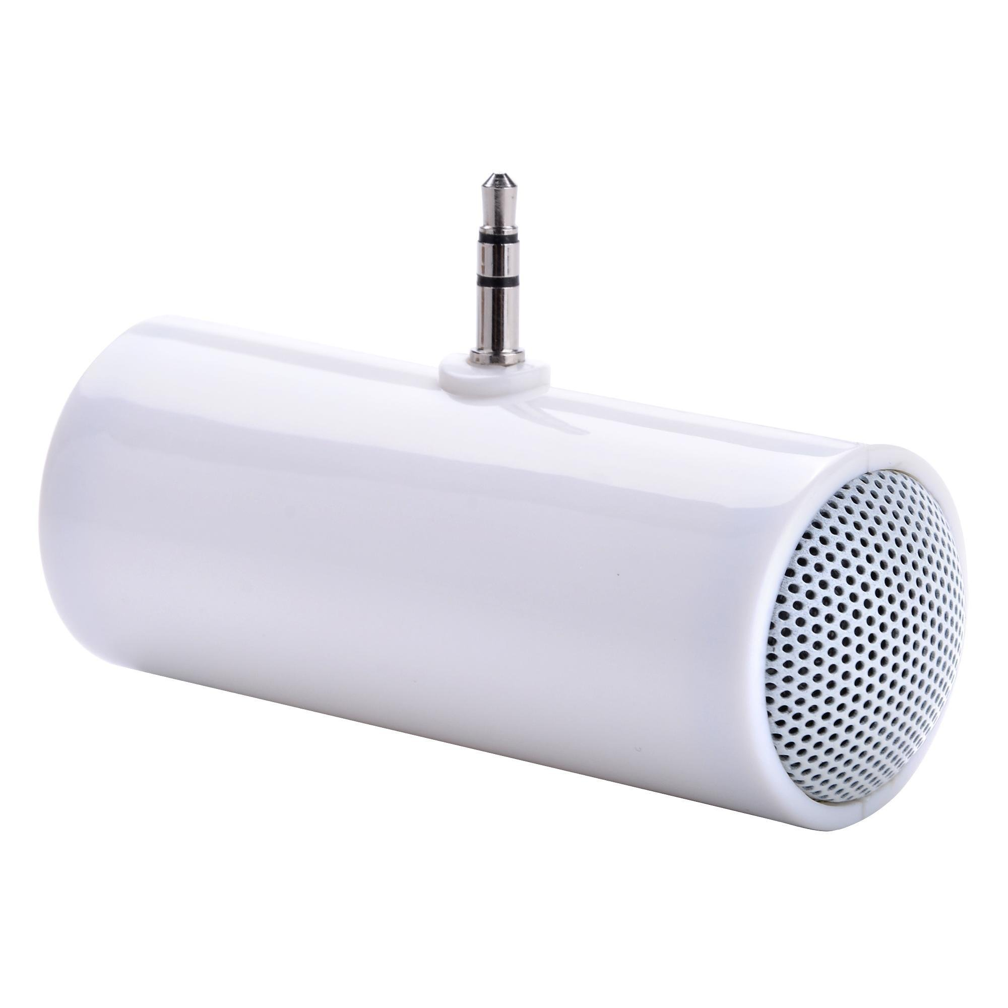 Suines Portable Mini 3.5mm Speaker Small White Stereo Speaker for Smartphone Moblie Phone MP3 MP4 Player Tablet PC Computer Notebook Laptop Promotional Gift