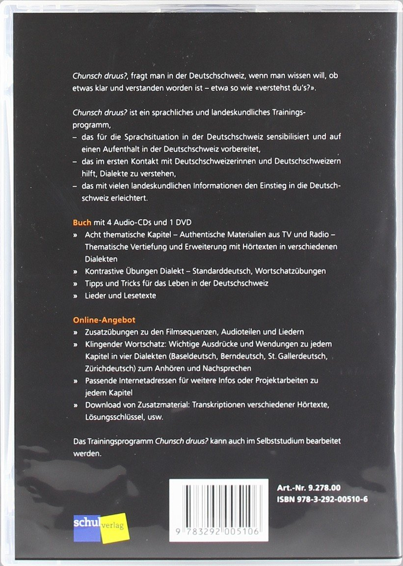 Amazon.com: Chunsch Druus?: Buch MIT 4 Audio-Cds + 1 DVD ...
